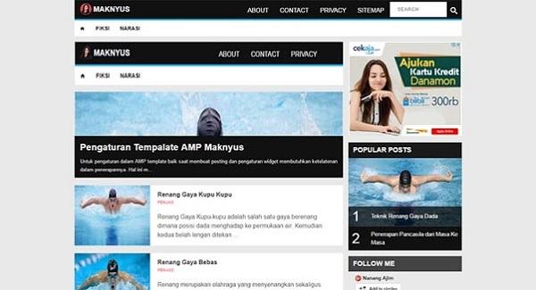 Maknyus AMP Blogspot Template