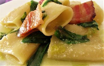 Makaroni u umaku od blitve / Pasta with Swiss chard sauce