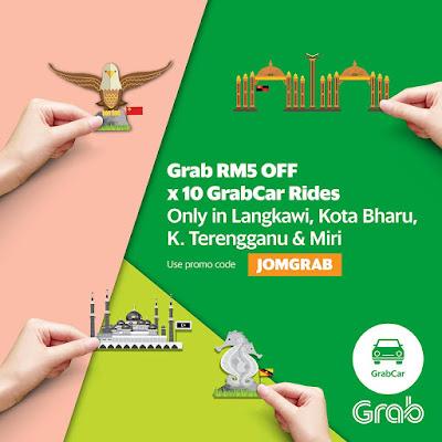 Grab Promo Code Discount GrabCar Rides Langkawi Kota Bharu Kuala Terengganu Miri