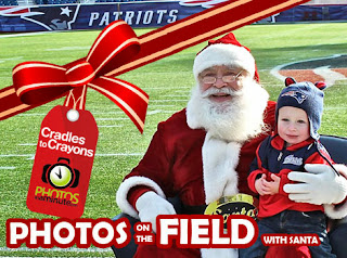 Photos on the Field with Santa at Patriot Place