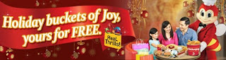 BPI FREE Holiday Buckets of Joy, Jollibee, BPI, shop anywhere, chicken joy