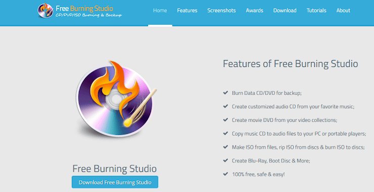 Free Burning Studio for writing CD and DVD
