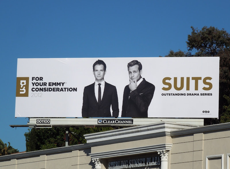 Suits Emmy Consideration 2012 billboard