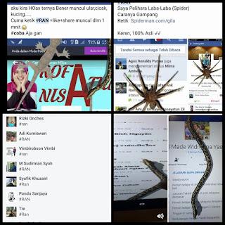 Ketik #RAN Di Komentar Facebook Timbul Ular & Binatang Lainnya ? Begini Caranya