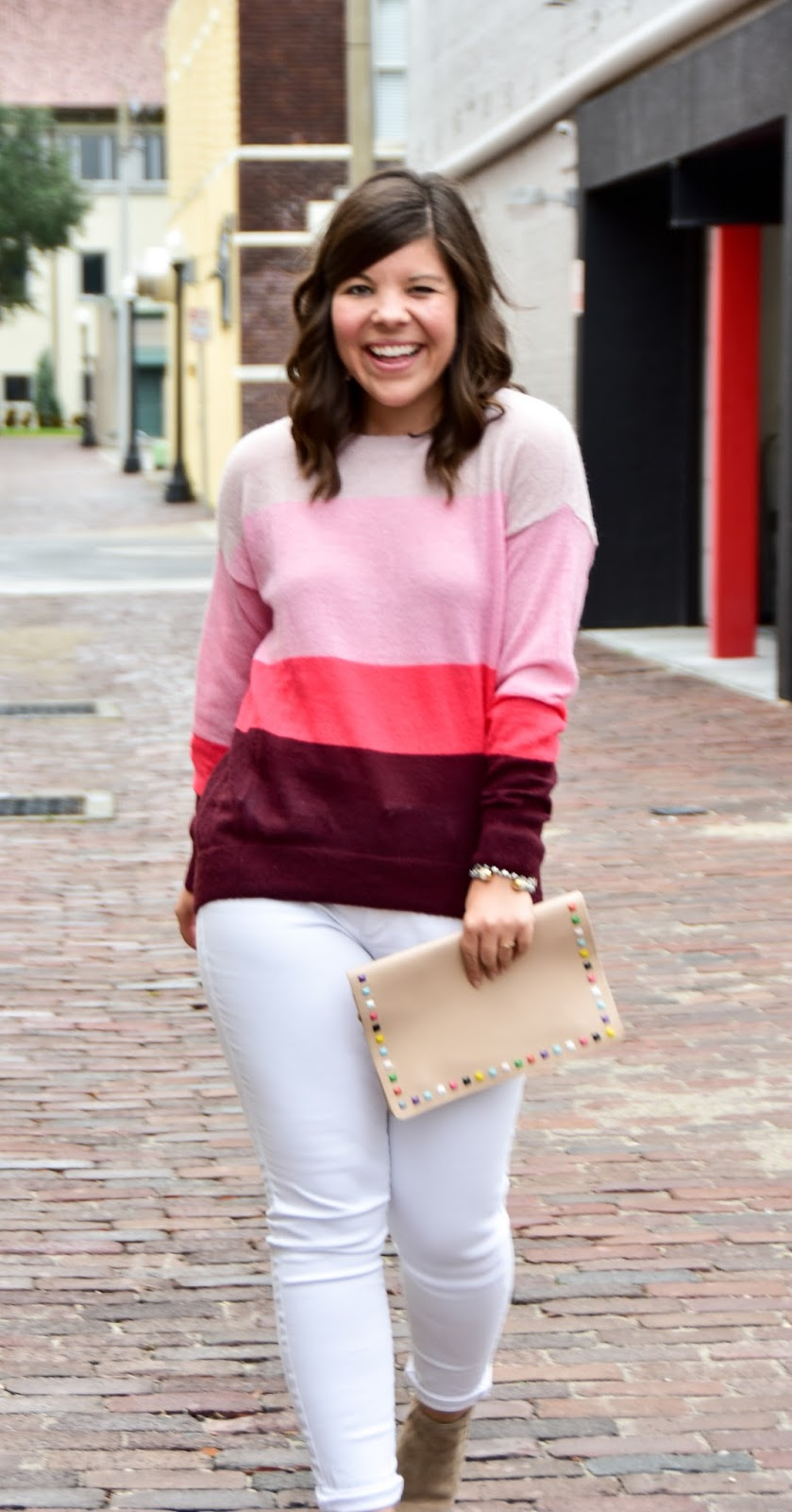 A Perfectly Pink Striped Sweater