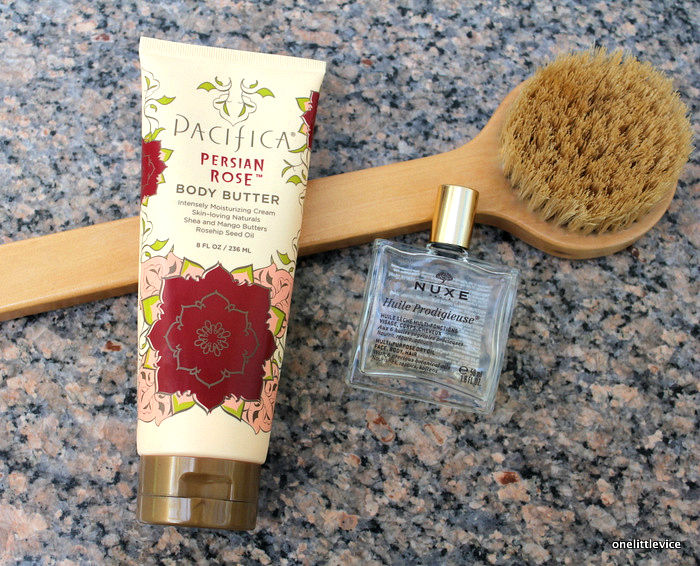 onelittlevice beauty blog: Pacifica Body Butter and Nuxe Dry Oil