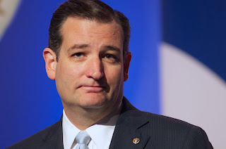 Ted Cruz at the 2013 Values Voter Summit with a coy smug. Taken by Jamelle Bouie October 11, 2013
