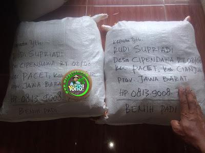 Benih Padi TRISAKTI pesanan RUDI SUPRIADI   (Sesudah Packing)