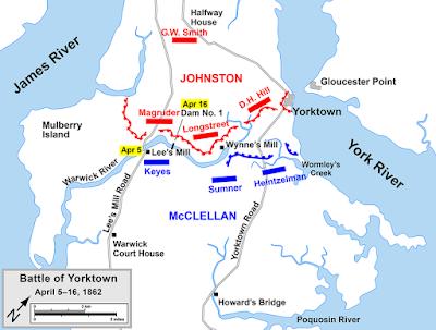 Map of Penninsula campaign