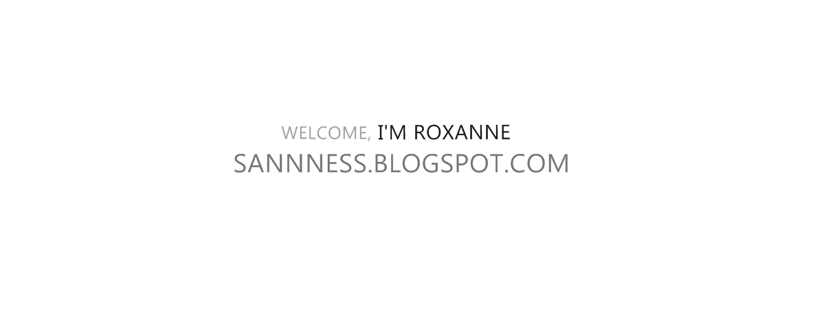 BLOG BY ROXANNE