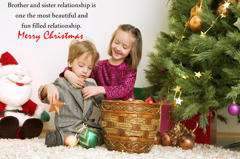 Christmas Wishes Image for Brother & Sister