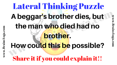 Lateral thinking Brain Twister Question