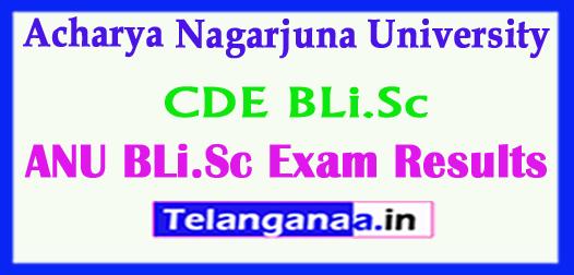Acharya Nagarjuna University (CDE) BLi.Sc 2018 Exam Results