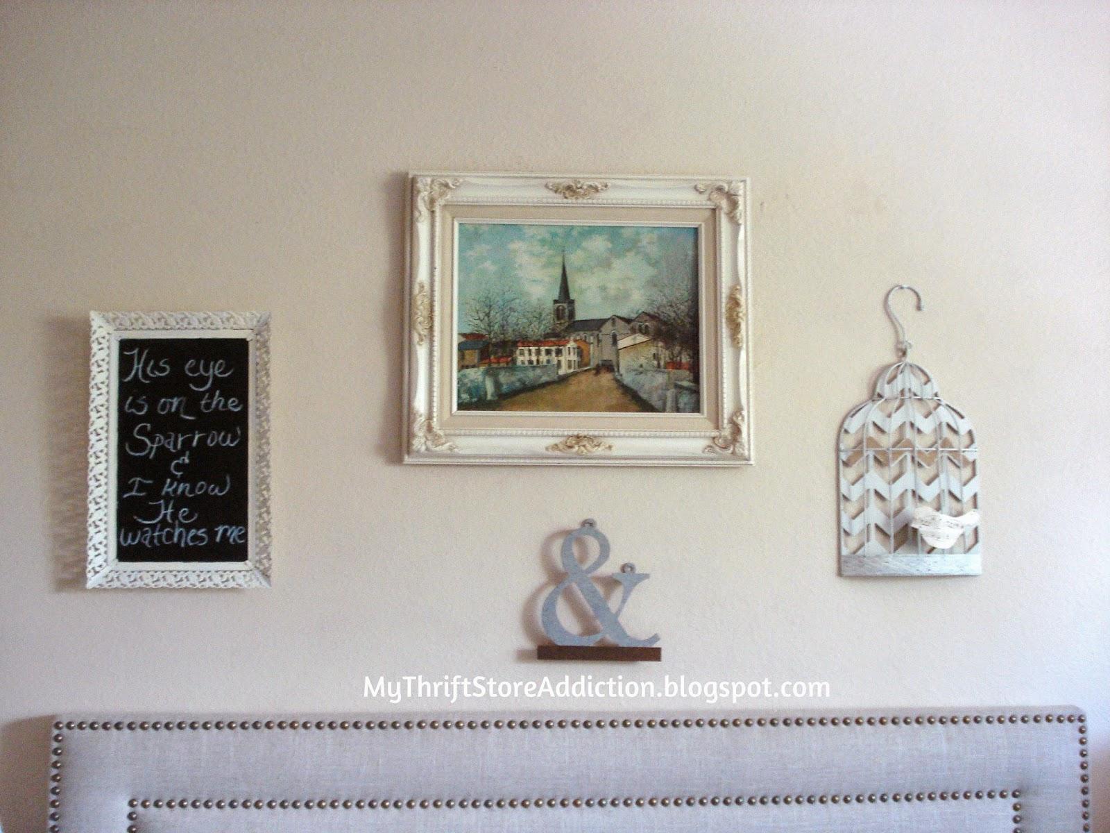 Charming bedroom vignette