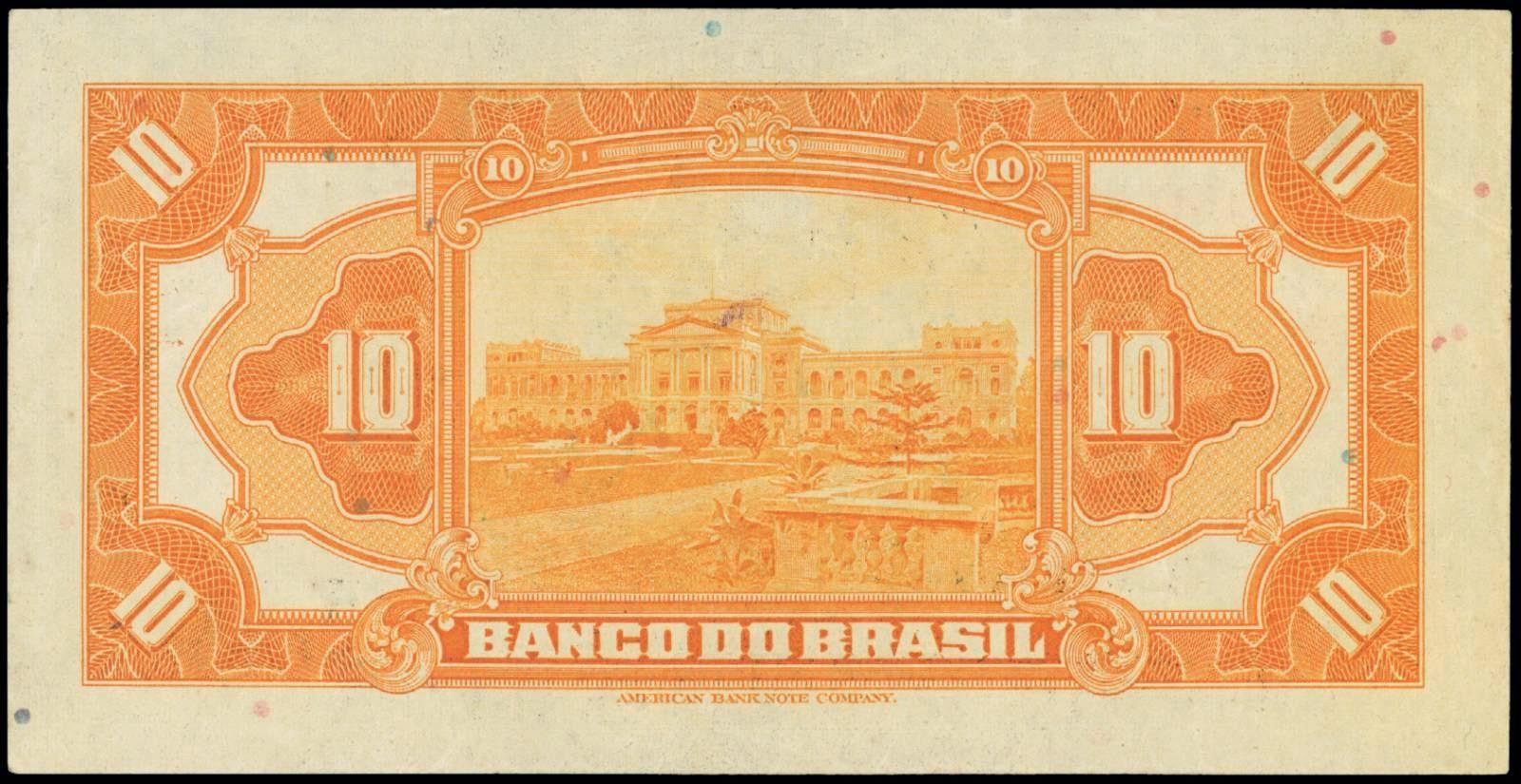 Brazil Cruzeiro 10 Mil Reis Real banknote