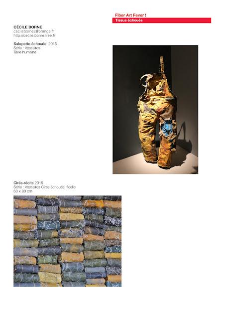 art recyclage, art avec tissus échoués