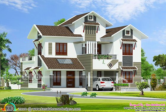 5 bedroom 2320 Sq.feet Modern house