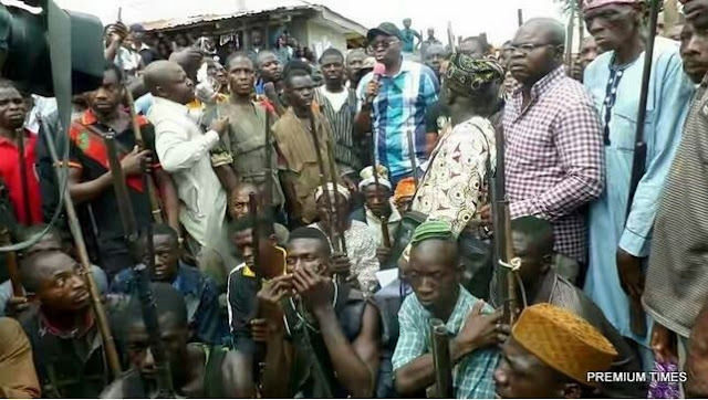 This Means War: See the Army of Local Hunters Fayose is to Unleash on Fulani Herdsmen in Ekiti
