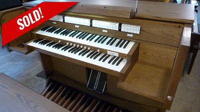 picture of a used Allen C8c organ from Graftons and no longer available