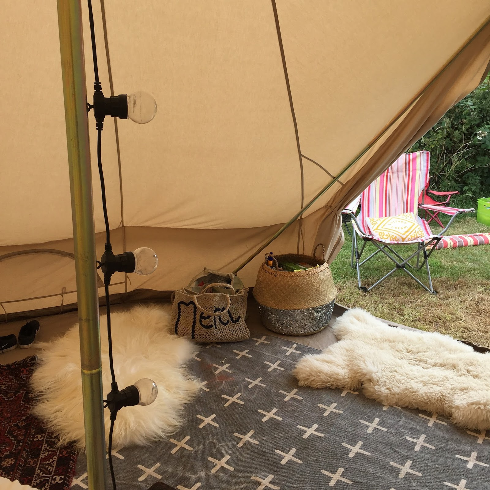 Adding rugs immediately makes the tent look and feel cosy warm and homely. & Huddle Inside u0026 Out: From Camping to Glamping - 4 Tips