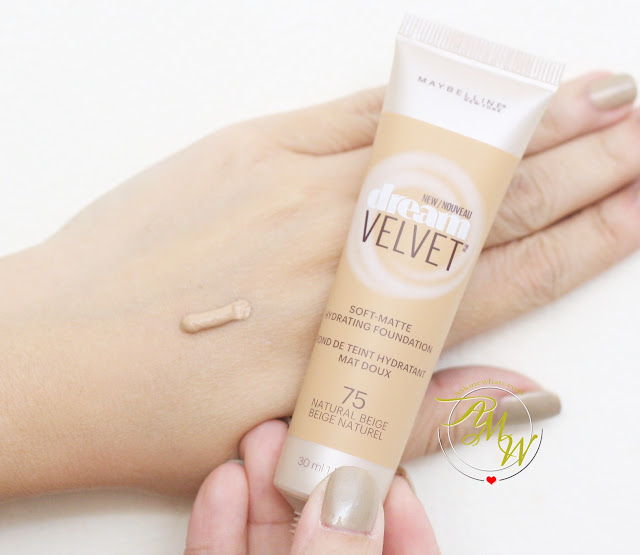 a swatch photo of Maybelline Dream Velvet Soft Matte Hydrating Foundation Natural Beige