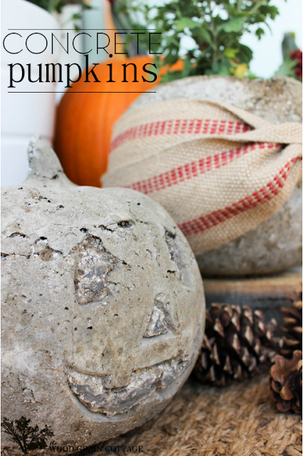 Concrete pumpkins from Fall Hallow are a durable and creative fall craft that will last for years and look great out on your front porch
