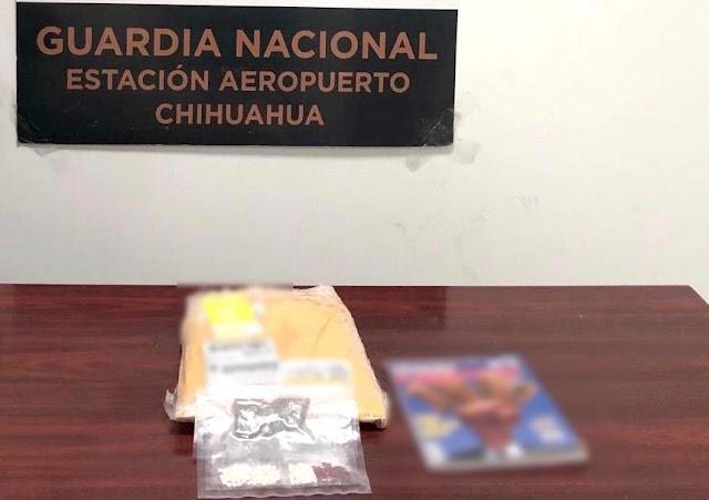 EN DISTINTOS AEROPUERTOS DE CHIHUAHUA, GUARDIA NACIONAL INCAUTÓ DOS ENVÍOS DE DROGA SINTÉTICA OCULTOS DENTRO DE REVISTAS