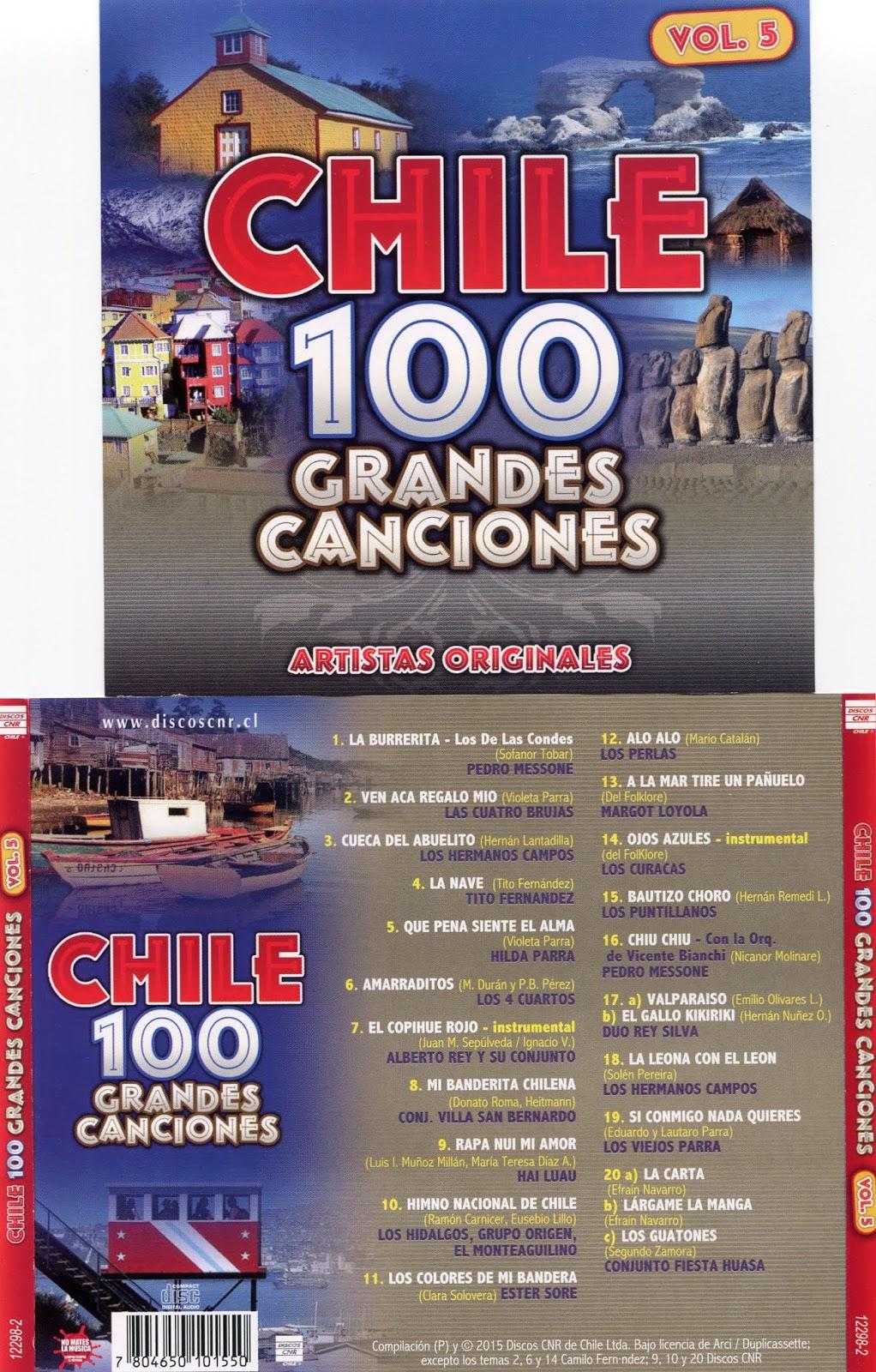 cd 100 grandes canciones de Chile Cd 5 Vol5