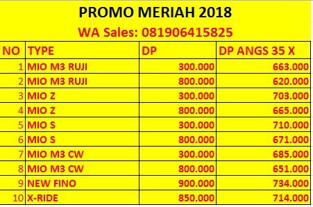 Brosur Daftar Harga Motor Yamaha 2019