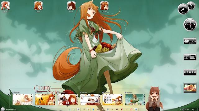 Ookami to Koushinryou Theme Win 7 by Andrea_37