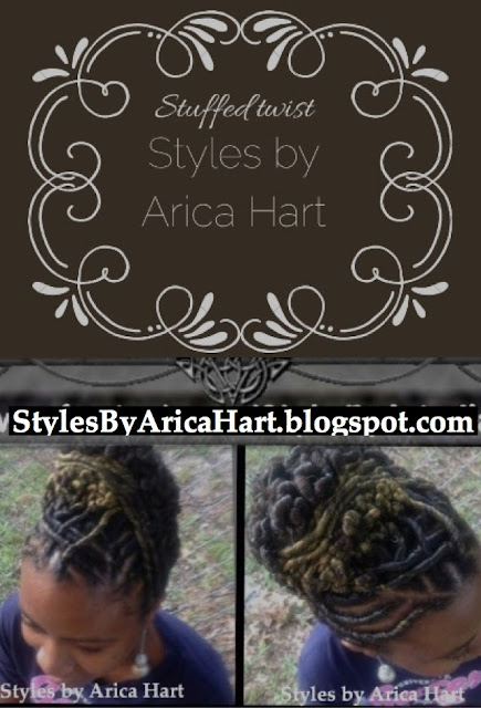 Updo hair styles, stuffed twist, styles by Arica Hart