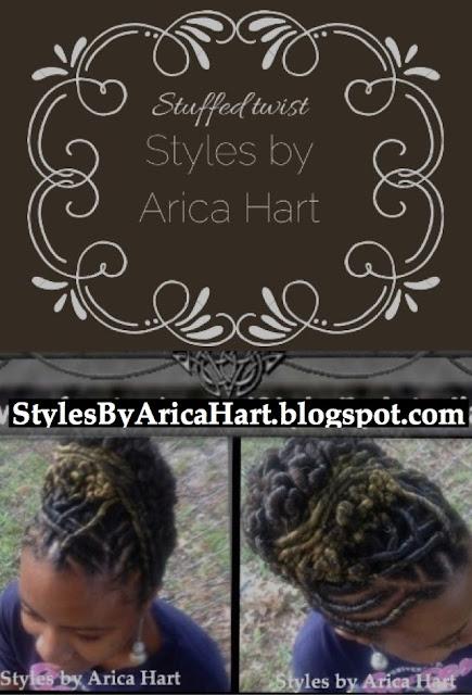 Updo hair styles, stuffed twist, styles by Arica Hart