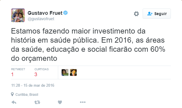 Gustavo Fruet faz novas promessas para se reeleger