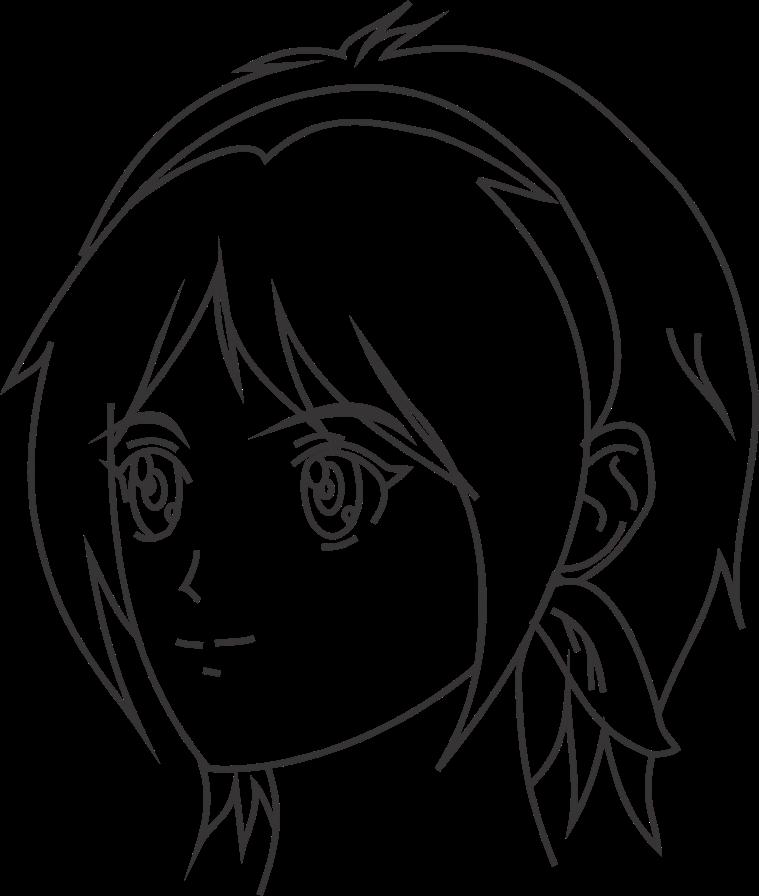 Cara menggambar wajah anime tampak 3/4 depan
