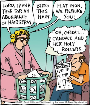 church comic, church humor, church funnies, hair roller comic