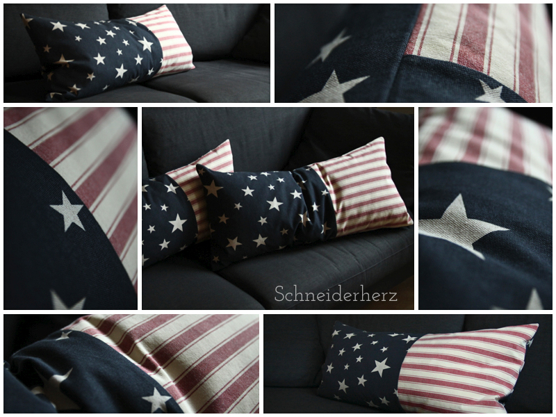 Kissen Stars & Stripes Pillow DIY