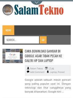 halaman web terbuka