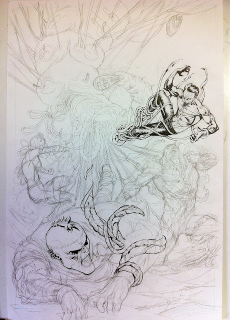 JUSTICE LEAGUE DARK #36 cover process by Guillem March