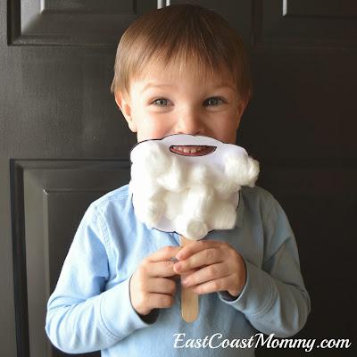 Santa Crafts Kids Can Make - Santa beard