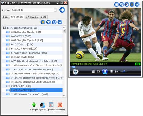 Download sopcast tv plugin.