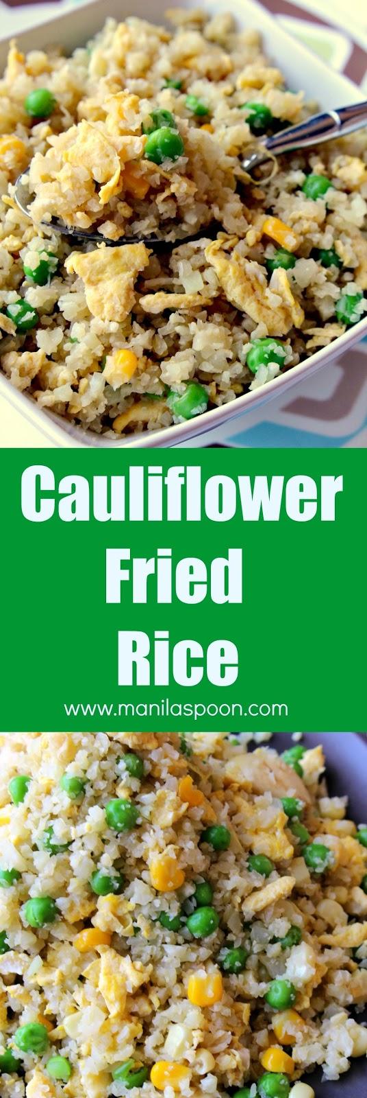 In 15 minutes or less you can make this delicious alternative to fried rice. A versatile recipe, you can add your favorite meat (esp. left-over ones), veggies and adjust the taste to your liking! | manilaspoon.com