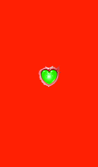 Green heart button