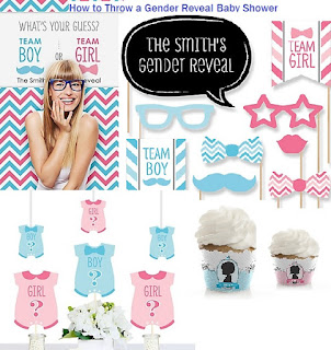 How to Throw a Gender Reveal Baby Shower and Party Ideas