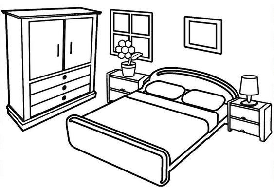 Tranh tô màu phòng ngủ đơn giản