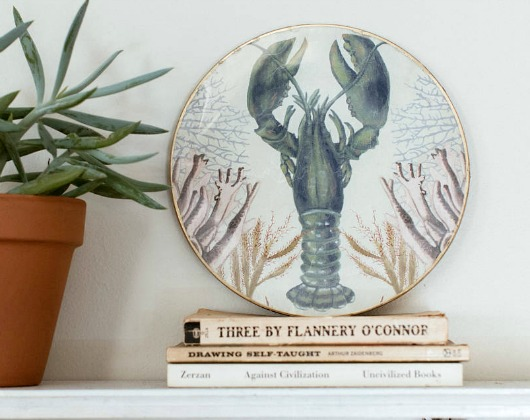 Decorative Nautical Decoupage Plate