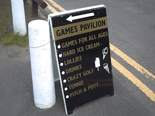 Petanque was not listed on the sign at the Games Pavilion in Wythenshawe Park