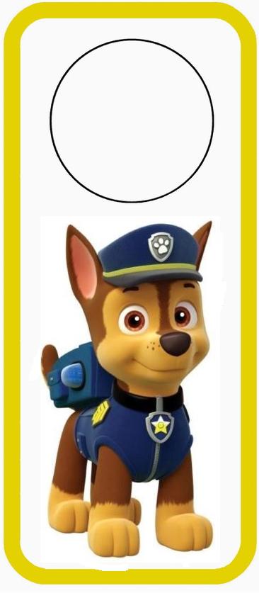 Para colocar en las puertas de Paw Patrol o Patrulla Canina de Chase.
