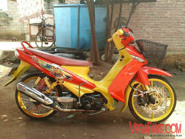 Modif Vega ZR Velg Racing Kuning