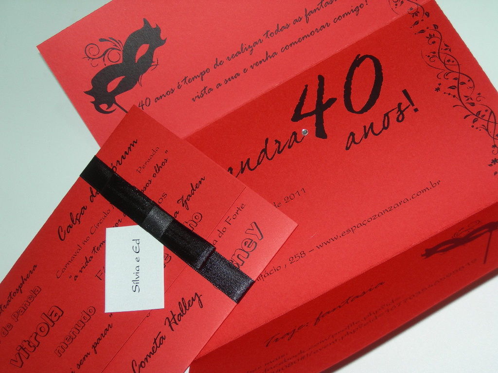 Quero Montar Meu Convite De 50 Anos: Confeitaria De Convites: Aniversário De 40 Anos