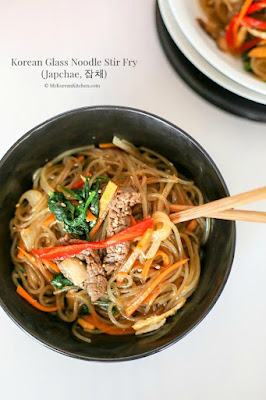 KOREAN GLASS NOODLE STIR FRY (JAPCHAE)